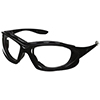 uvex Safety Glasses Seismic® Black Frame with Clear Hardcoat Lens and Headband