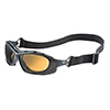 Uvex Safety Glasses Seismic® Black Frame with Espresso Uvextra Anti Fog Lens and Headband