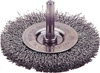 "Firepower Power Brushes, Carbon Steel Wire 1/4"",Circular, End Brushes, 3"", Coarse"