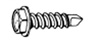 "W & E Fasteners #8 X 1"" Zinc Plated Unslotted Hex Washer Head Self Drilling & Self Tapping Sheet Metal Screws"